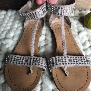 ELLE - Tan Gladiator Sandals-Size 7